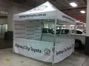branded corporate marquee
