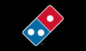 Dominos Pizza Logo on black background