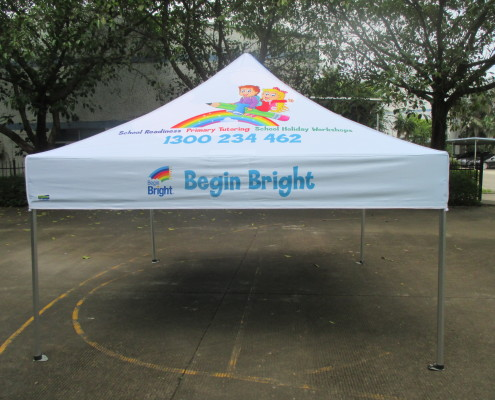 3m x3m school marquee with print
