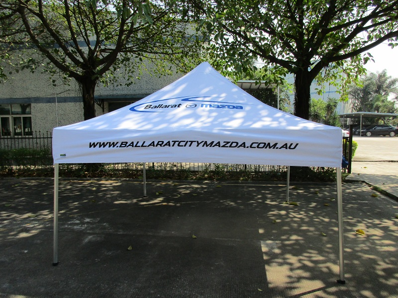 custom printed gazebo car dealer