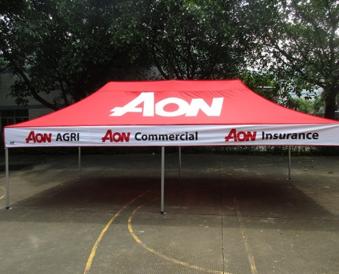 Banded tent corporate