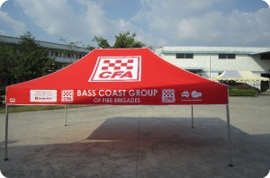 printed emergency tent