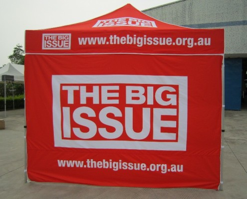 The Big Issue printed marquee and printed wall