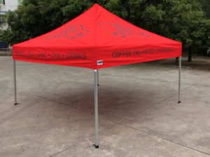 Branded Tent corporate coffee drinks