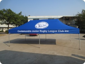 Printed Rugby tent
