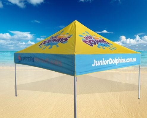Swimming printed gazebo