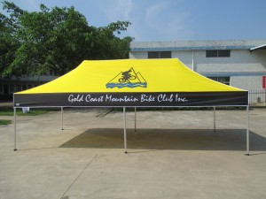 6 x 3 marquee with printing