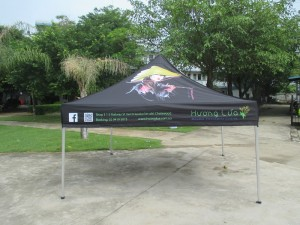 3 x 3 printed marquee