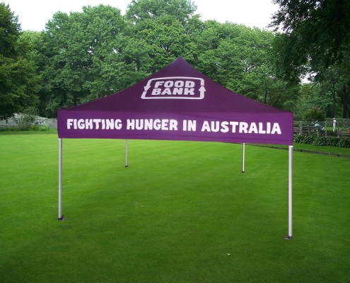 Food Bank branded gazebo tent charity 3mx3m