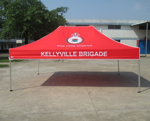 Printed marquee fire brigade