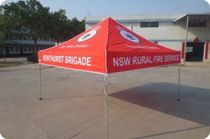 Rural Fire Service Branded popup gazebo 3m x 3m