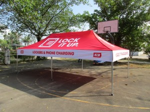 Promotional tent printed