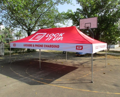 Lock it Up Promotional tent printed
