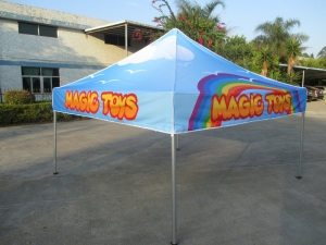 printed 3m x 3m marquee