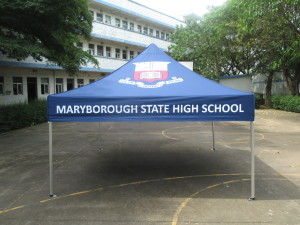 Printed school marquee 3mx3m