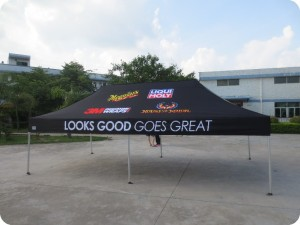 printed corporate marquee