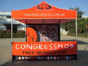 National Congress printed gazebo tent
