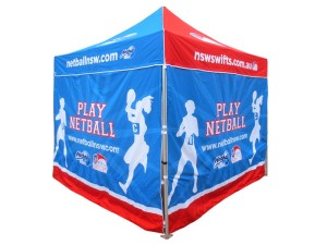 Printed marquee Netball NSW