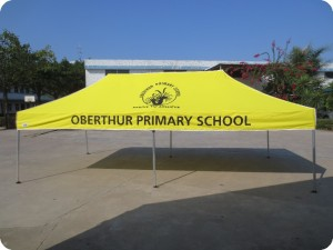Yellow branded school tent large