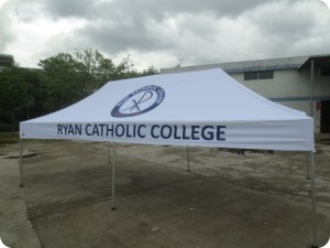 Prited marquee for schools and colleges 6m x 3m