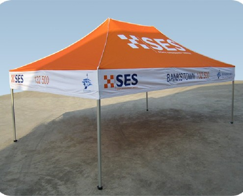 SES 4.5m x 3m multicolour gazebo