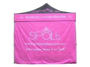 Market Marquee full printed walls 3m x 3m