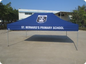 4.5m x 3m school printed tent - navy and white