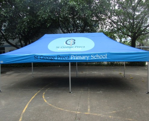 School gazebo printed