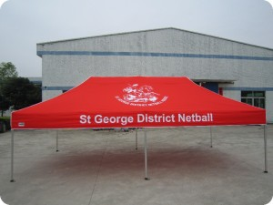 printed netball marquee