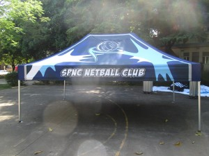 printed gazebo sports club