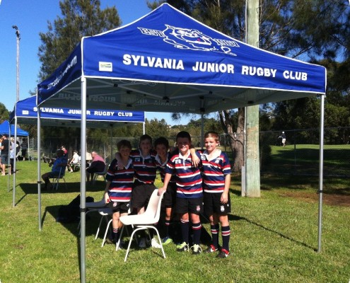 Sylvania Rugby Sports gazebo with printing 3mx3m