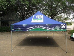 Branded Marquee Tent netball