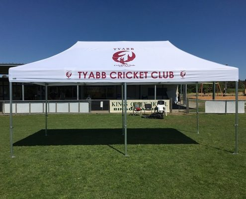 Tyabb printed cricket marquee 6mx3m