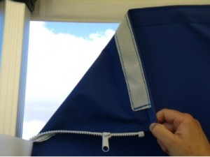 Zip and velcro gazebo accessory - dark blue