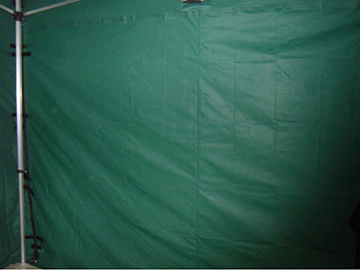 Gazebo accessory - dark green colour walls