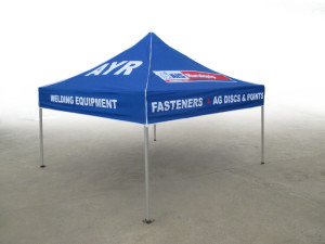 Coporate marquee full colour printing