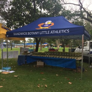 Branded Tent athletics