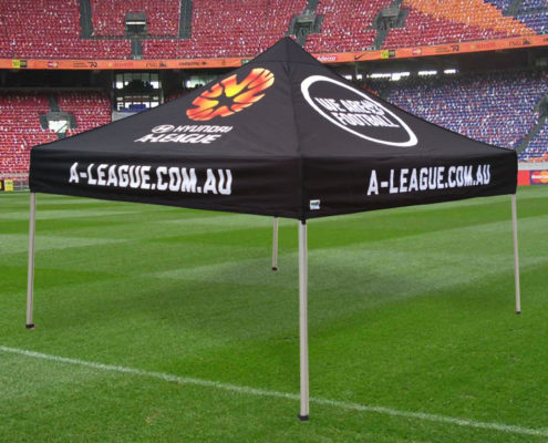football promotional marquees