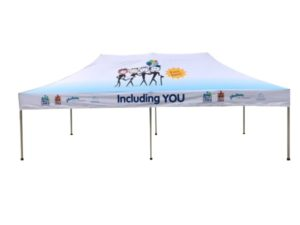 6x3 tent with print