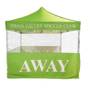 Swan Valley tent and haf wall