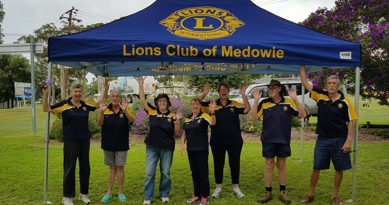 Lions Club community branded gazebo 4.5mx3m