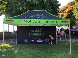 Tri Motivate portable Printed triathlon gazebo