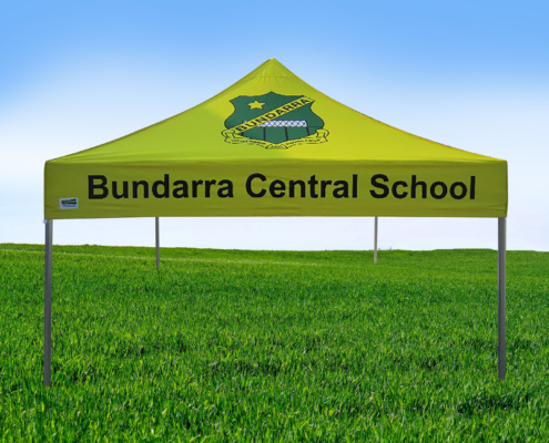 printed school marquee 3m x 3m