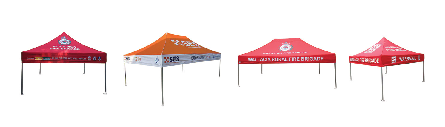 emergency services marquees with custom print