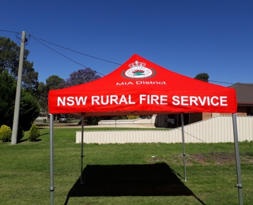 RFS printed marquee