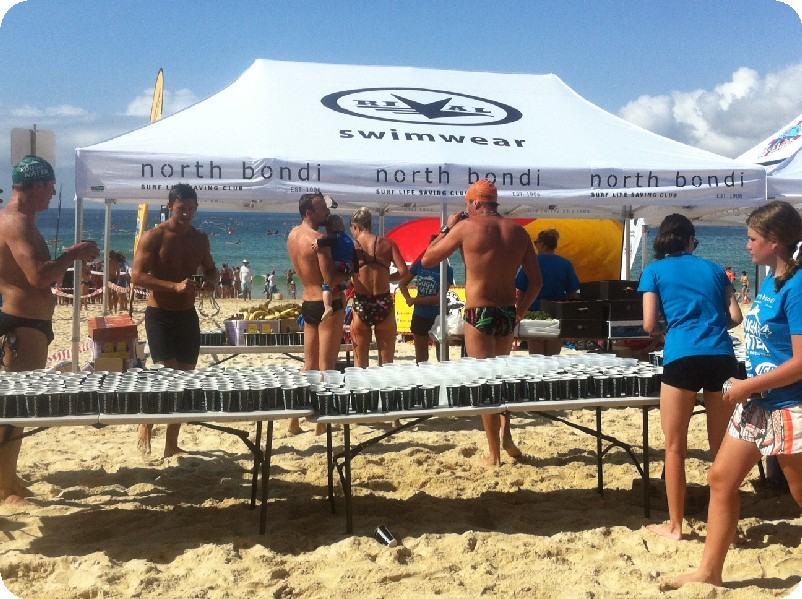 Rival printed beach tent 6mx3m