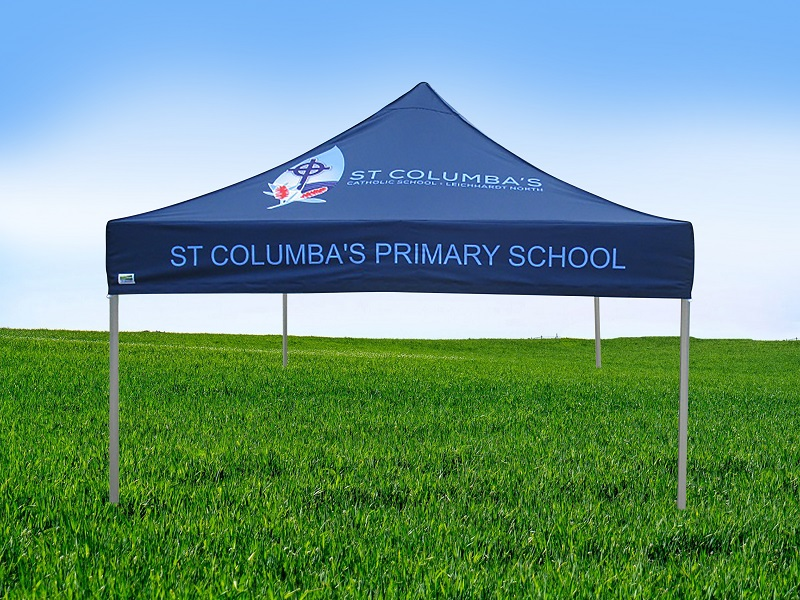 St Columbas Primary school printed school tent