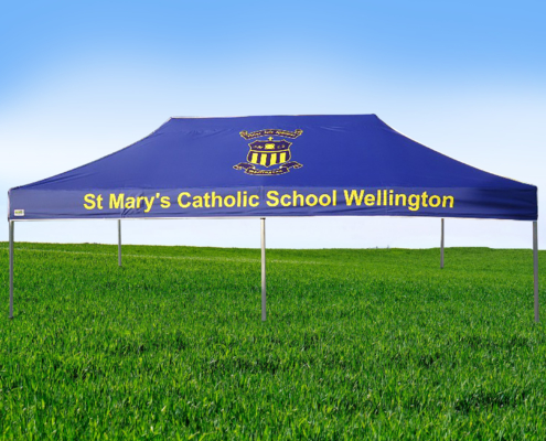 St Mary's Catholic School printed gazebo 6mx3m