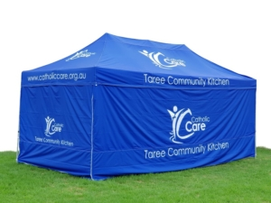 Taree Community tent with printing