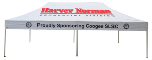 Harvey Norman Sports Marquee Printed 6mx3m